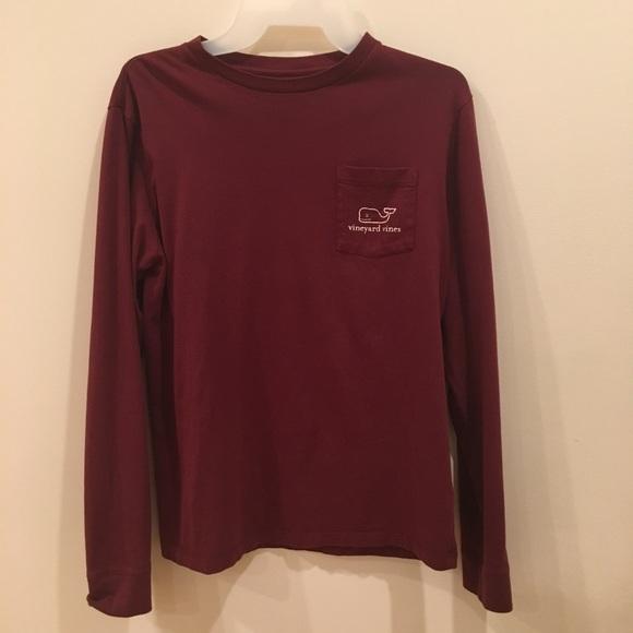 7dc6aae8 Vineyard Vines Shirts & Tops   Maroon Long Sleeve Vintage Whale ...